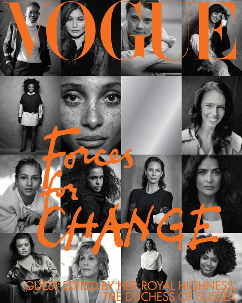 The 'Forces for Change' cover of September's Vogue