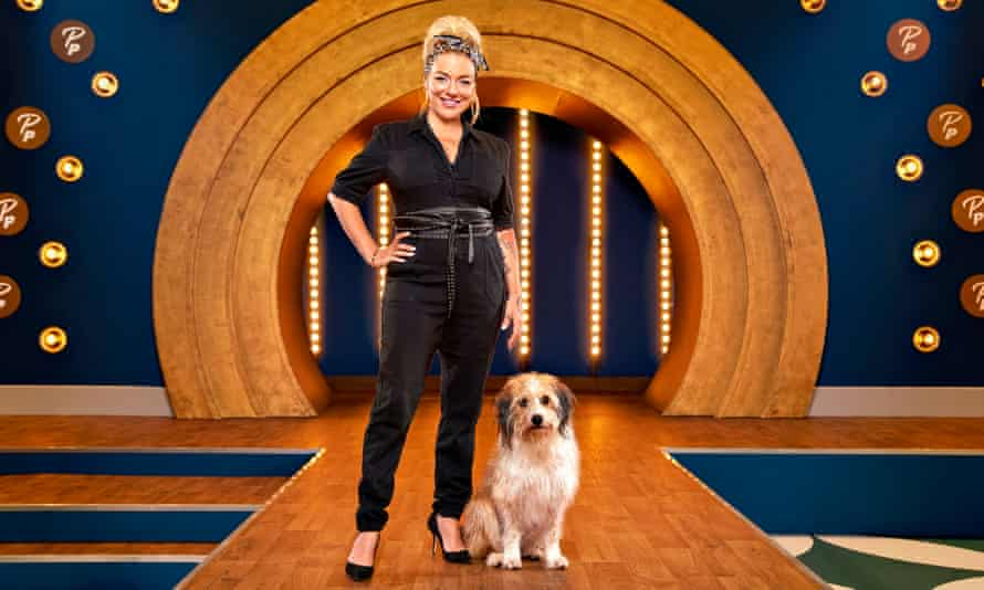 Sheridan Smith and Stanley on Pooch Perfect.