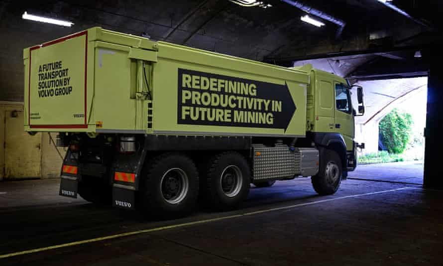 The modified Volvo FMX truck