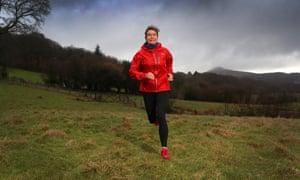 Ruth Pickvance in winter fell running gear.