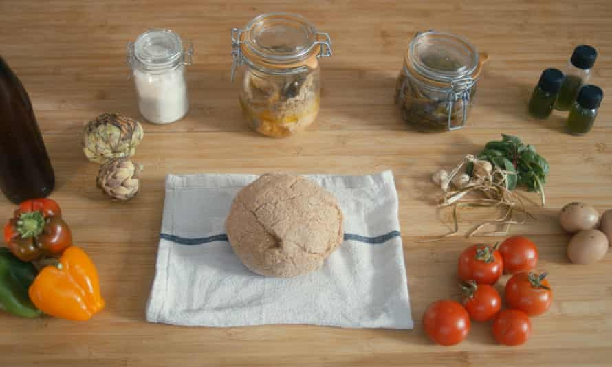 The ingredients Benjamin Carle created to make his sandwich.