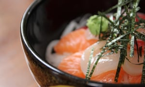 Kaisendon rice bowl with sashimi at Yuzu