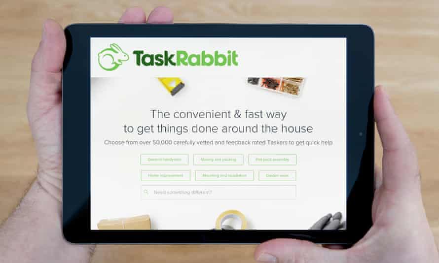 TaskTabbit website on an iPad.