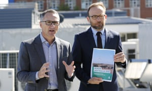 Australian Greens leader Richard Di Natale (left) with climate spokesman Adam Bandt.