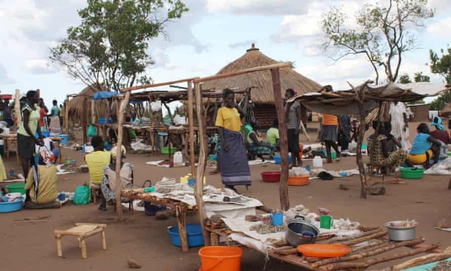 South Sudanese refugees at Bidi Bidi settlement centre in North Uganda.
