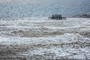 Matthew Cattell: Starling Vortex, Brighton, East Sussex, which has won the Landscape Photographer of the Year 2016