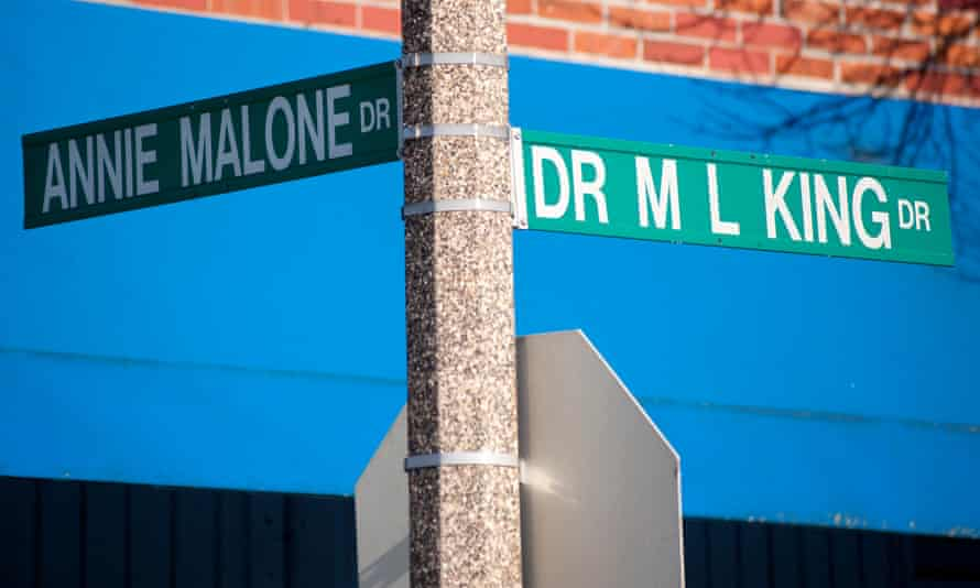 Street signs in St Louis acknowledge leaders in the African American community.