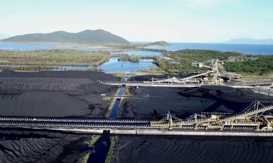 Aerial footage of the Abbot Point coal port