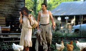 Lisa Bonet and Mickey Rourke in the 1987 film Angel Heart, based on the novel Falling Angel, by William Hjortsberg