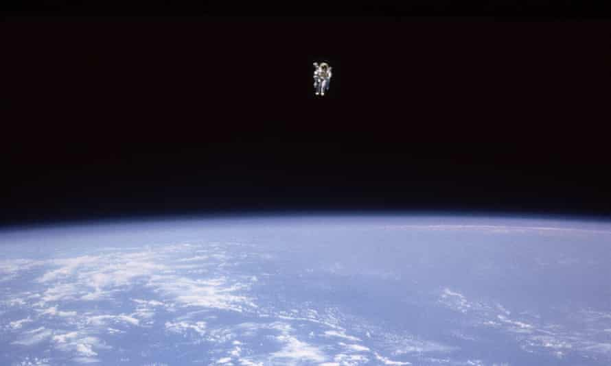 Bruce McCandless on his untethered flight in 1984.