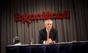 Outgoing ExxonMobil chairman and CEO Rex Tillerson speaks at a press conference in Dallas, Texas.