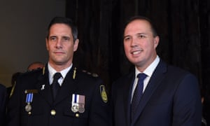 Au pair inquiry: Former commissioner of the Australian Border Force Roman Quaedvlieg and Peter Dutton in 2015.