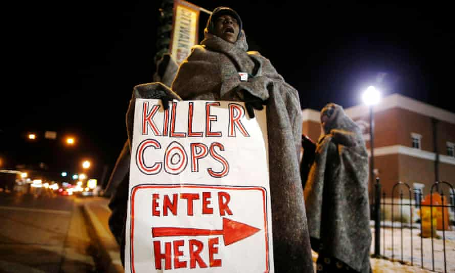 Ferguson police protest