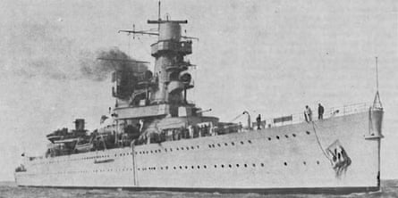 HNLMS De Ruyter, which was sunk in the Battle of Java in 1942.
