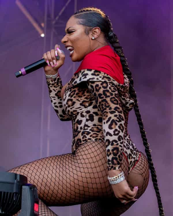 Megan Thee Stallion performing during the Astroworld festival, Houston, November 2019.