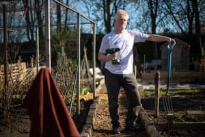 Rob Glave has worked his allotment for 15 years.