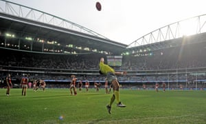 The Etihad stadium in Melbourne. That's a different kind of football.