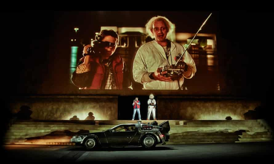 Flying high … Back to the Future at Secret Cinema in 2014.
