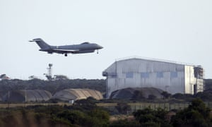 A plane takes off from RAF Akrotir in Cyprus