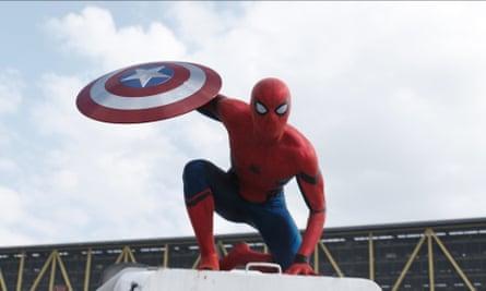Tom Holland in Captain America: Civil War.