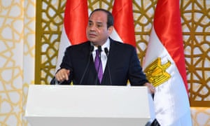 Egyptian president Abdel Fatah al-Sisi. Relations with Italy have improved since tensions over the murder of Italian student Giulio Regeni in Cairo in 2016.