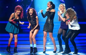 With Tulisa on The X Factor.