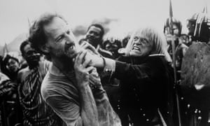 Werner Herzog and Klaus Kinski in a shot from the documentary My Best Fiend.