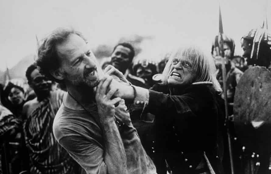 Werner Herzog on set with Klaus Kinski, taken from My Best Fiend.