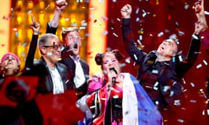 Israel's Netta performs her song Toy after winning Eurovision 2018.