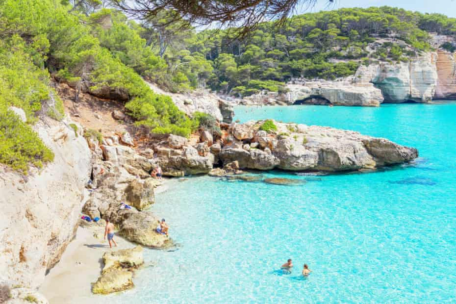 Cala Mitjana, 'a ravishing Caribbean-style beach with fine white sand and turquoise water'.