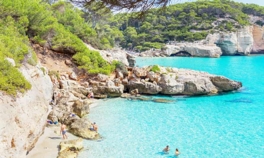 Cala Mitjana, Menorca, Balearic Islands, Spain.