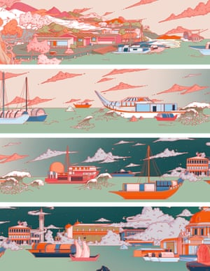Grace Park - Silk Road WondersWinner: SAA New Talent Illustrations for a luxury skinny scarf based on the Silk Road trade route between China and the west. The line work was done on Illustrator and it was coloured in Photoshop. Every longlisted, shortlisted and winning project can be viewed on The AOI website and WIA Instagram page