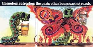 Heineken advert from 1977, in which a caterpillar transforms into a butterfly.