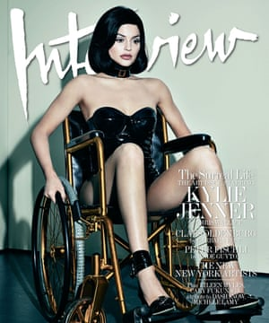 Kylie Jenner on the cover of Interview magazine