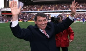 Graham Taylor is welcomed back to Villa Park in February 2002.