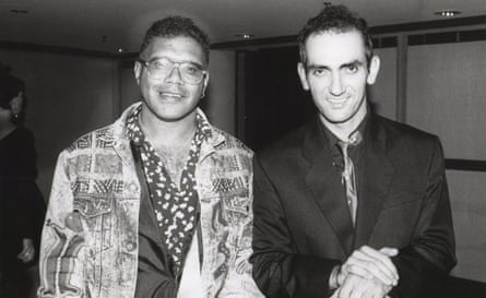 Archie Roach and Paul Kelly at the Arias in 1991.