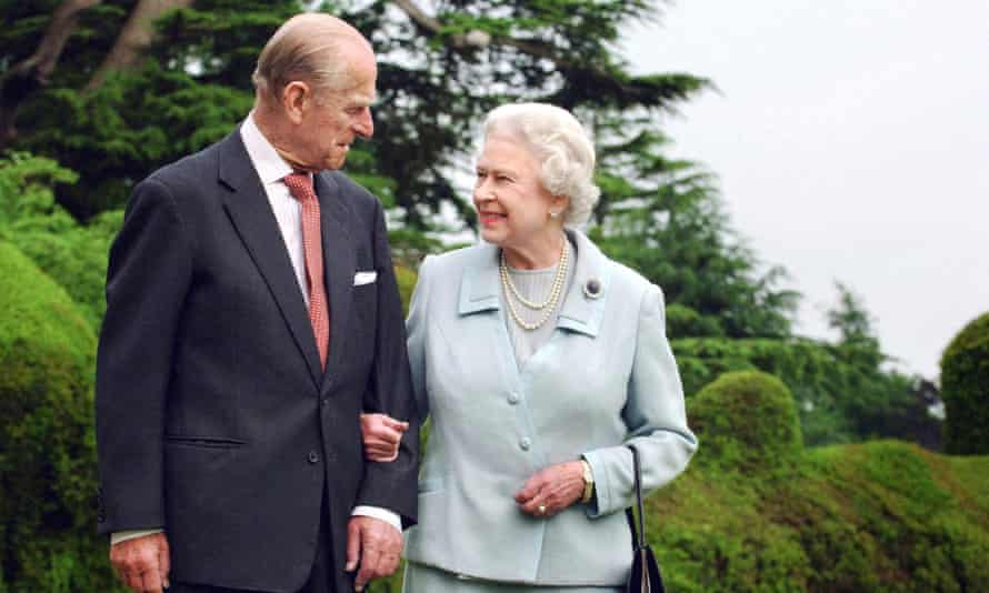 Queen Elizabeth II and her husband Prince Philip walking at Broadlands, Hampshire, pictured in 2007.