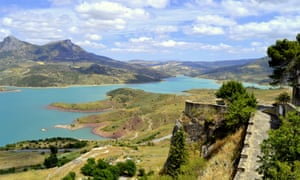 The view over the reservoir from Zahara de La Sierra.