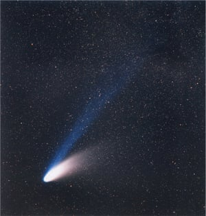 Image of comet Hale-Bopp which was visible in 1997