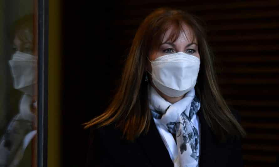 Dianne Jolley leaves the Downing Centre District Court in Sydney