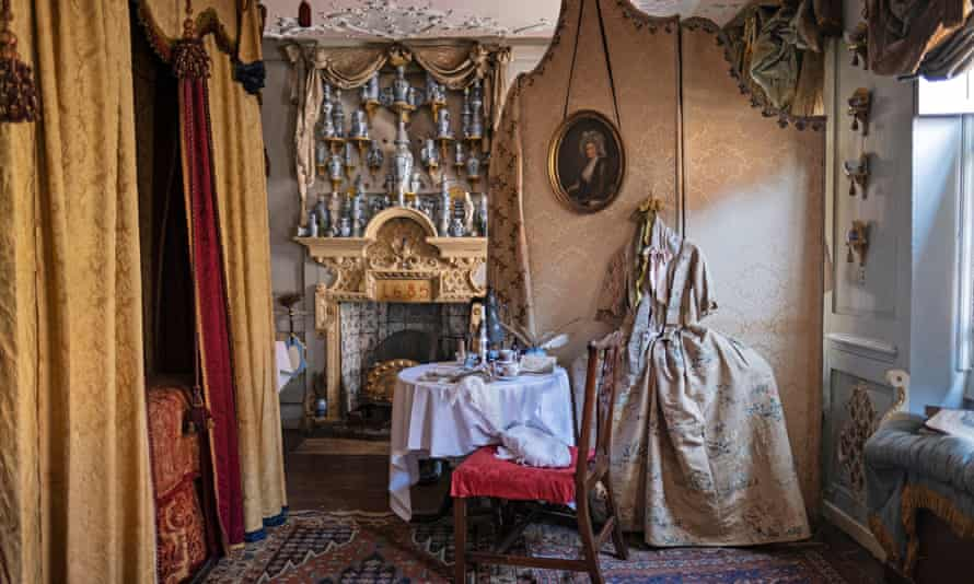 The master bedroom in Dennis Severs' House