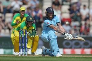 Ben Stokes of England batting