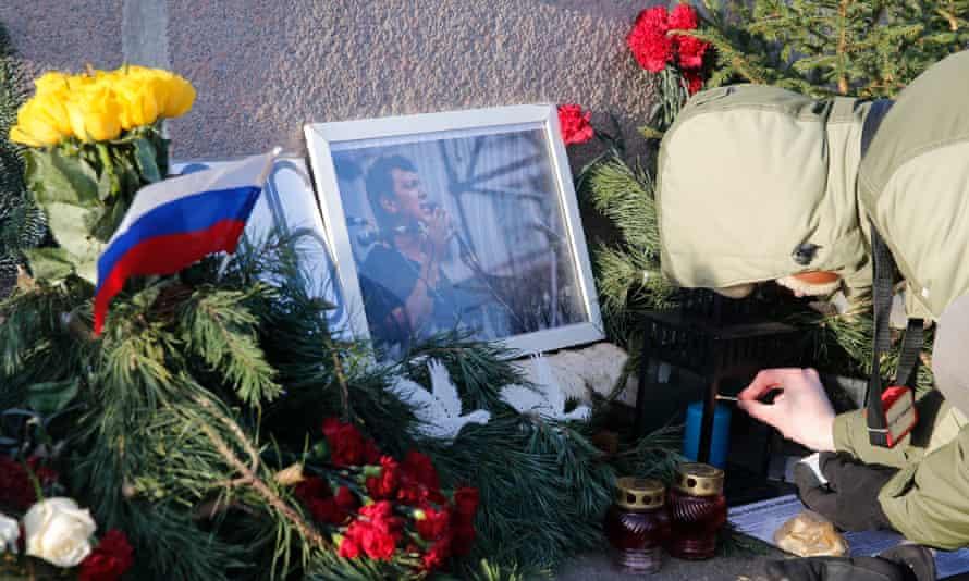 Site where Boris Nemtsov was killed in Moscow