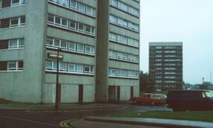 High-rise blocks on the Chelmsley Wood estate, east of Birmingham