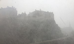 Edinburgh castle as seen from reader Tim Lukins's office.