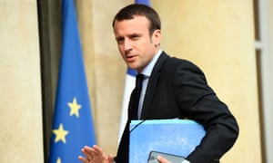 French economy and industry minister Emmanuel Macron.