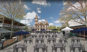 Proposed outdoor open-air dining in Melbourne.