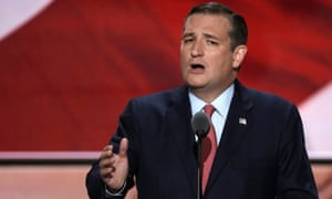Former Republican U.S. presidential candidate Ted Cruz speaks during the third night of the 2016 Republican National Convention in Cleveland.