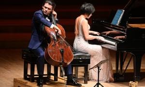 Absolutely secure … Gautier Capuçon and Yuja Wang at Barbican Hall.