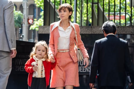 Reddy (Cobham-Hervey) with her daughter outside a New York subway in the film
